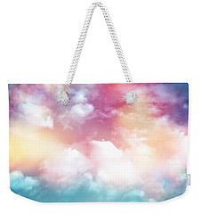 Colorful Clouds With Lens Flare Weekender Tote Bag by Serena King