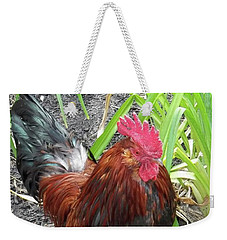 Colorful Cock Weekender Tote Bag