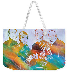 Colorful Coldplay Weekender Tote Bag