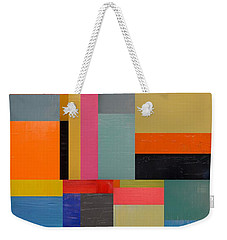 Colorful Collage 2.0 Weekender Tote Bag by Michelle Calkins
