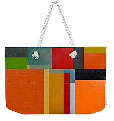 Colorful Collage 3.0 Weekender Tote Bag by Michelle Calkins