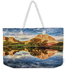 Weekender Tote Bag featuring the photograph Colorful Colorado - Panorama by OLena Art Brand