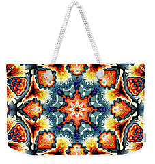 Colorful Concentric Motif Weekender Tote Bag