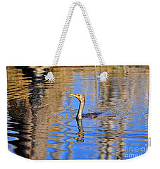 Weekender Tote Bag featuring the photograph Colorful Cormorant by Al Powell Photography USA