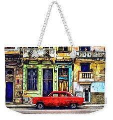 Weekender Tote Bag featuring the painting Colorful Cuba by Edward Fielding