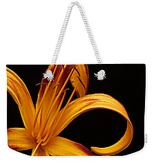 Weekender Tote Bag featuring the photograph Colorful Curls by Judy Vincent