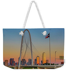 Colorful Dallas Sunset Weekender Tote Bag
