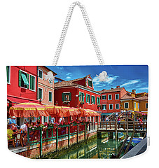 Colorful Day In Burano Weekender Tote Bag
