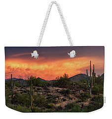 Weekender Tote Bag featuring the photograph Colorful Desert Skies At Sunset  by Saija Lehtonen