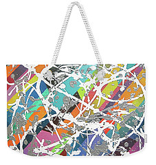 Colorful Disaster Aka Jeremy's Mess Weekender Tote Bag