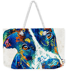 Colorful Dog Art - Happy Go Lucky - By Sharon Cummings Weekender Tote Bag