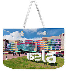 Weekender Tote Bag featuring the photograph Colorful Dutch Hospital Facade by Hans Engbers