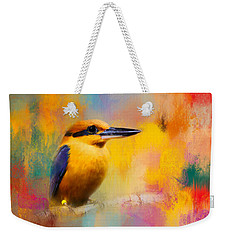 Colorful Expressions Kingfisher Weekender Tote Bag