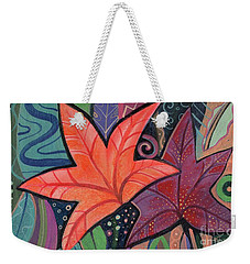 Colorful Fall Weekender Tote Bag
