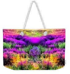 Colorful Field Of A Lavender Weekender Tote Bag