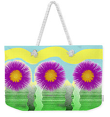 Weekender Tote Bag featuring the digital art Colorful Flower Pop Art by Shelli Fitzpatrick