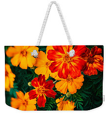 Weekender Tote Bag featuring the photograph Colorful Flowers by Silvia Ganora