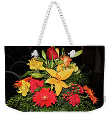 Colorful Flowers Weekender Tote Bag by Suhas Tavkar