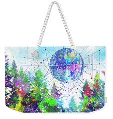 Colorful Forest 3 Weekender Tote Bag by Bekim Art