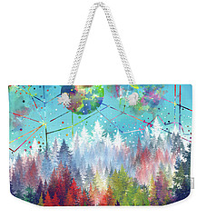 Colorful Forest 4 Weekender Tote Bag by Bekim Art