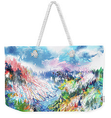Colorful Forest 5 Weekender Tote Bag by Bekim Art
