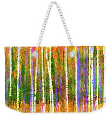 Colorful Forest Abstract Weekender Tote Bag