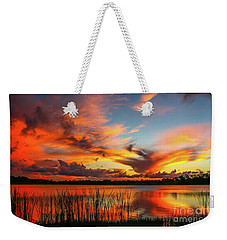 Colorful Fort Pierce Sunset Weekender Tote Bag