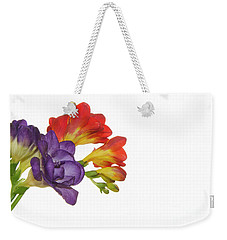 Colorful Freesias Weekender Tote Bag