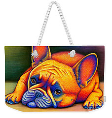 Colorful French Bulldog Weekender Tote Bag