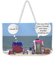 Beach Humor Colorful Friends Weekender Tote Bag by Suzanne Powers