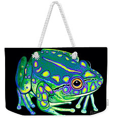 Weekender Tote Bag featuring the painting Colorful Froggy 2 by Nick Gustafson
