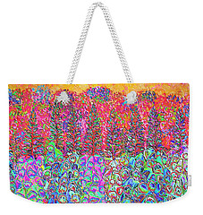 Weekender Tote Bag featuring the mixed media Colorful Garden by Elizabeth Lock