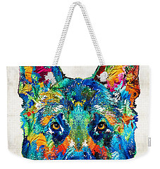 Colorful German Shepherd Dog Art By Sharon Cummings Weekender Tote Bag
