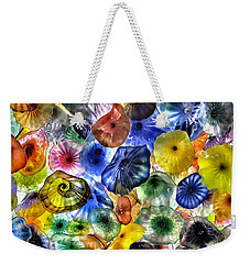 Colorful Glass Ceiling In Bellagio Lobby Weekender Tote Bag