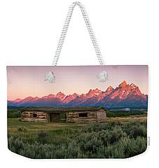 Colorful Grand Teton National Park Sunrise Weekender Tote Bag by Serge Skiba
