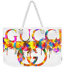 Colorful Gucci Paint Splatter Weekender Tote Bag