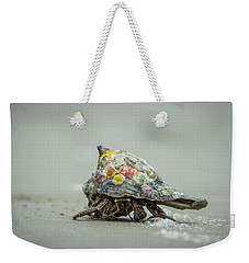Weekender Tote Bag featuring the photograph Colorful Hermit Crab by Chris Bordeleau