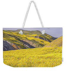 Weekender Tote Bag featuring the photograph Colorful Hill And Golden Field by Marc Crumpler