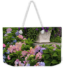 Colorful Hydrangea Weekender Tote Bag by Living Color Photography Lorraine Lynch