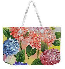 Colorful Hydrangeas Weekender Tote Bag