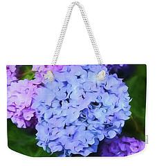 Colorful Hydreangeas Weekender Tote Bag by Bonnie Bruno