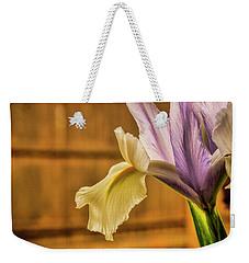Colorful Iris Bloom Weekender Tote Bag