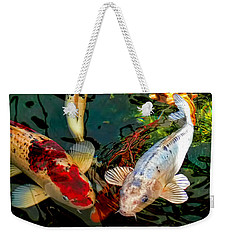 Colorful  Japanese Koi Fish Weekender Tote Bag