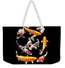 Colorful Japanese Koi Vertical Weekender Tote Bag
