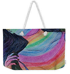 Colorful Lady Weekender Tote Bag by Lucy Frost