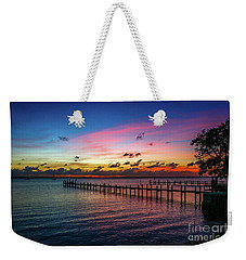 Colorful Lagoon Sunrise Weekender Tote Bag