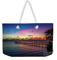 Colorful Lagoon Sunrise Weekender Tote Bag by Tom Claud