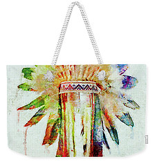 Colorful Lakota Sioux Headdress Weekender Tote Bag