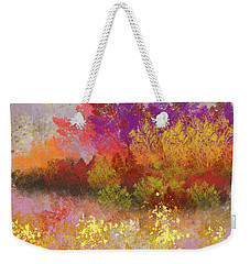Weekender Tote Bag featuring the digital art Colorful Landscape by Jessica Wright