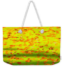 Colorful Leaves On Canal Weekender Tote Bag